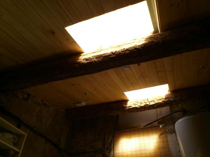 Vue intérieur, avec les ouvertures dans la toiture