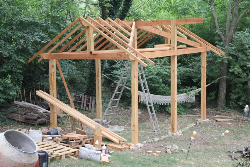 Structure et début de charpente