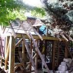 Fabrication de la strucure colombage et la charpente